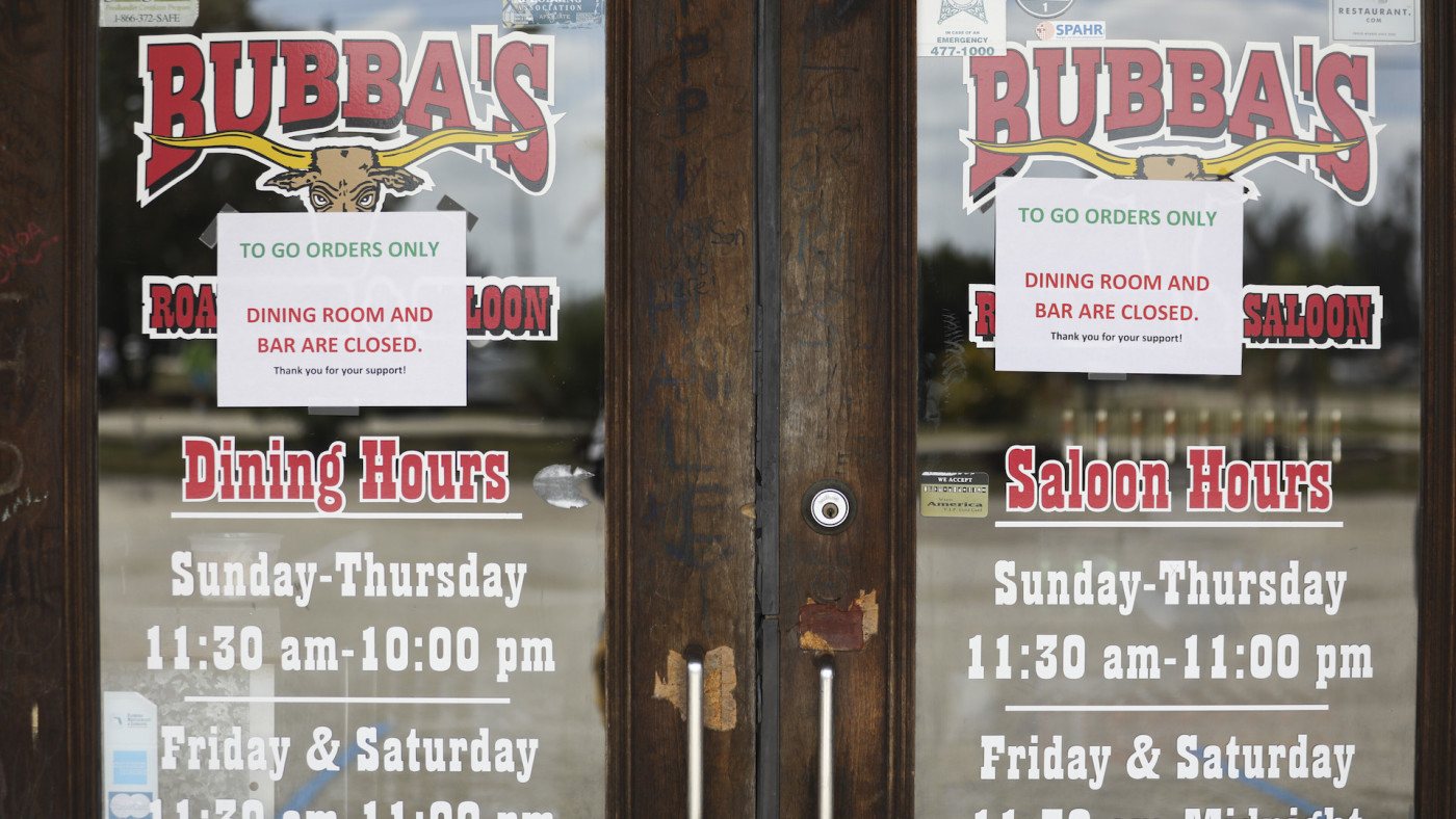 New rules due to Covid-19 at Bubbas Roadhouse and Saloon in Cape Coral, Florida.