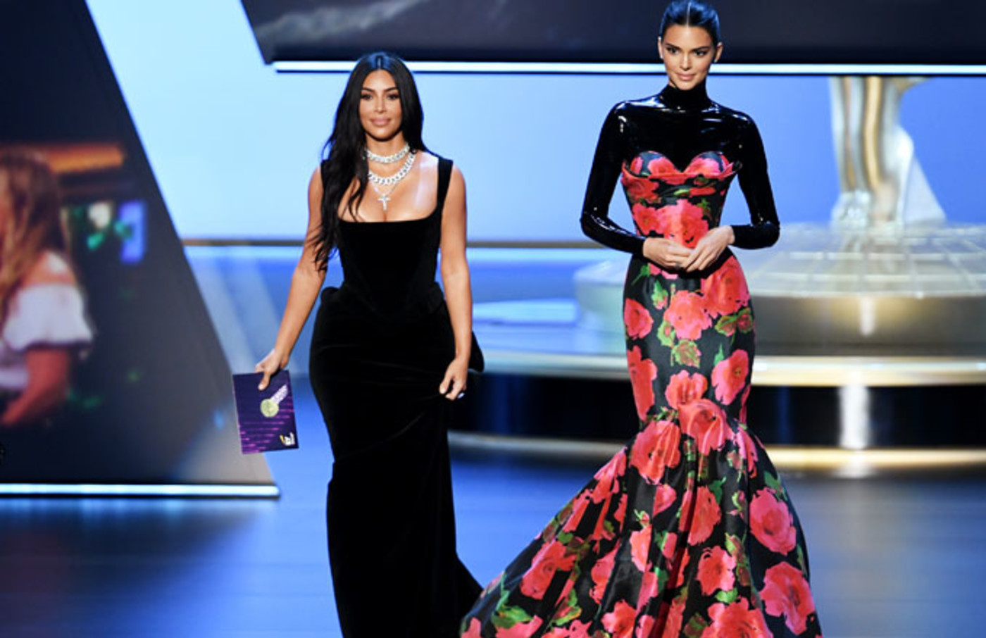 Kim Kardashian and Kendall Jenner at Emmys