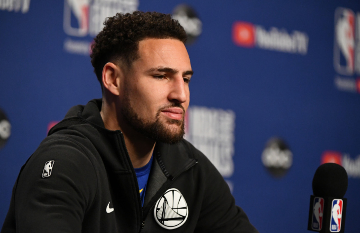 Klay Thompson #11 of the Golden State Warriors