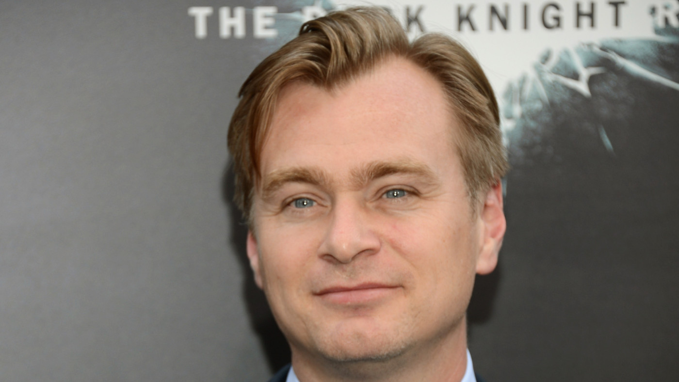 "Christopher Nolan attends ""The Dark Knight Rises"" premiere."