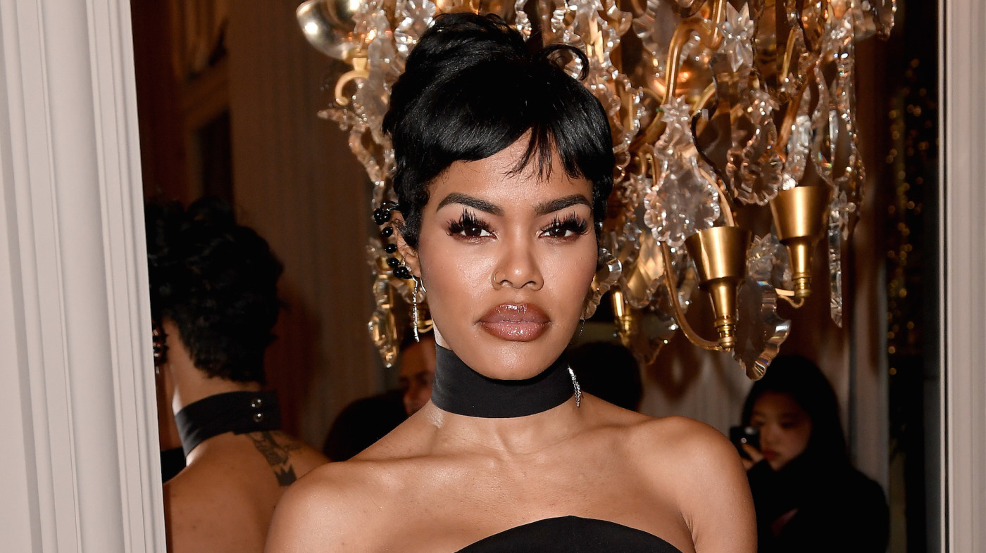 Teyana Taylor attends the Monot show as part of the Paris Fashion Week Womenswear