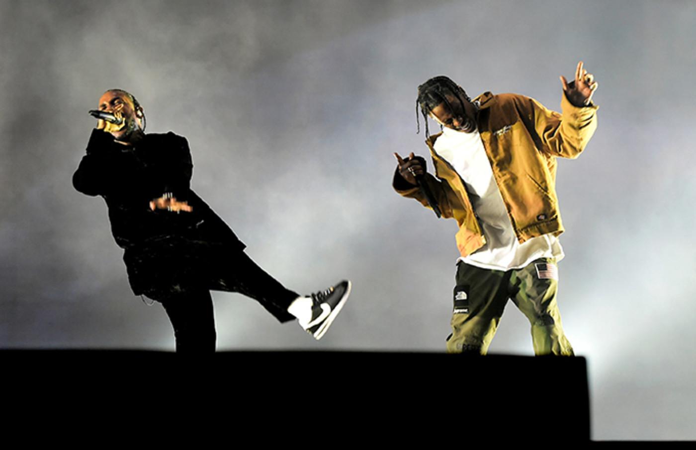 Travis Scott and Kendrick Lamar