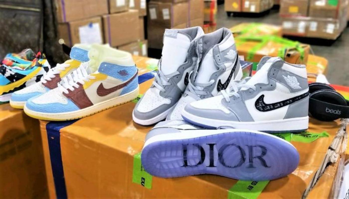 Fake Dior Jordans Chunky Dunky SBs Seized CBP