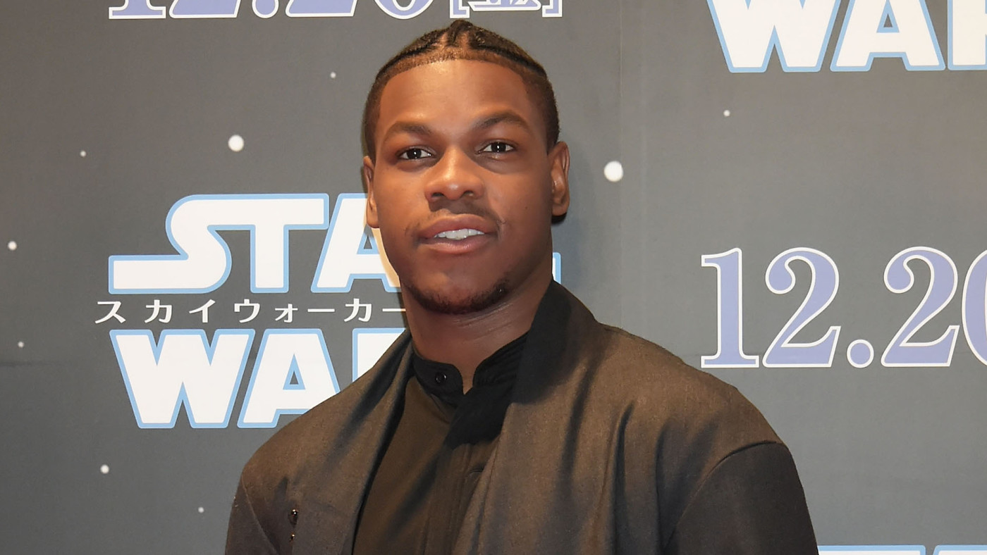 ohn Boyega attends the special fan event for 'Star Wars: The Rise of Skywalker'