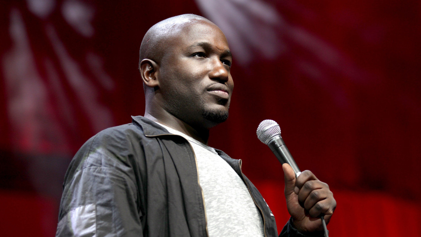 Hannibal Buress performs onstage at The Bill Graham Stage during Colossal Clusterfest.