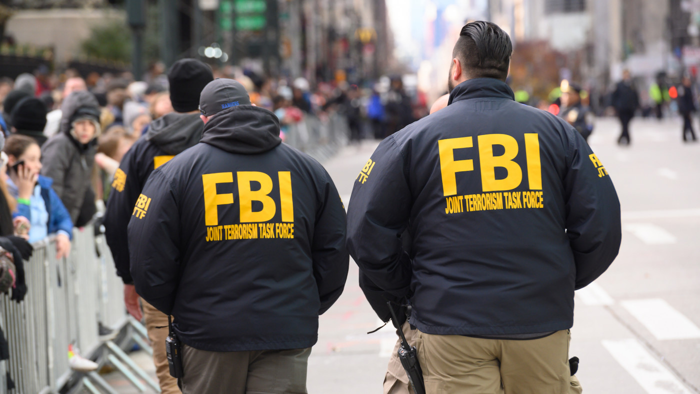FBI agents are seen at the 93rd Annual Macy's Thanksgiving Day Parade