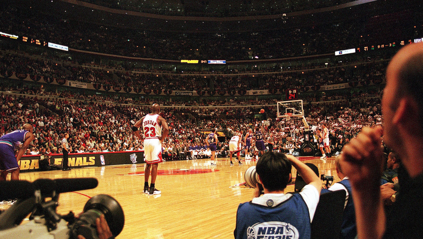 Michael Jordan #23 of the Chicago Bulls