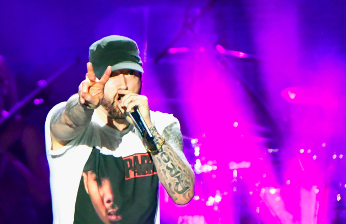 Eminem performs on What Stage
