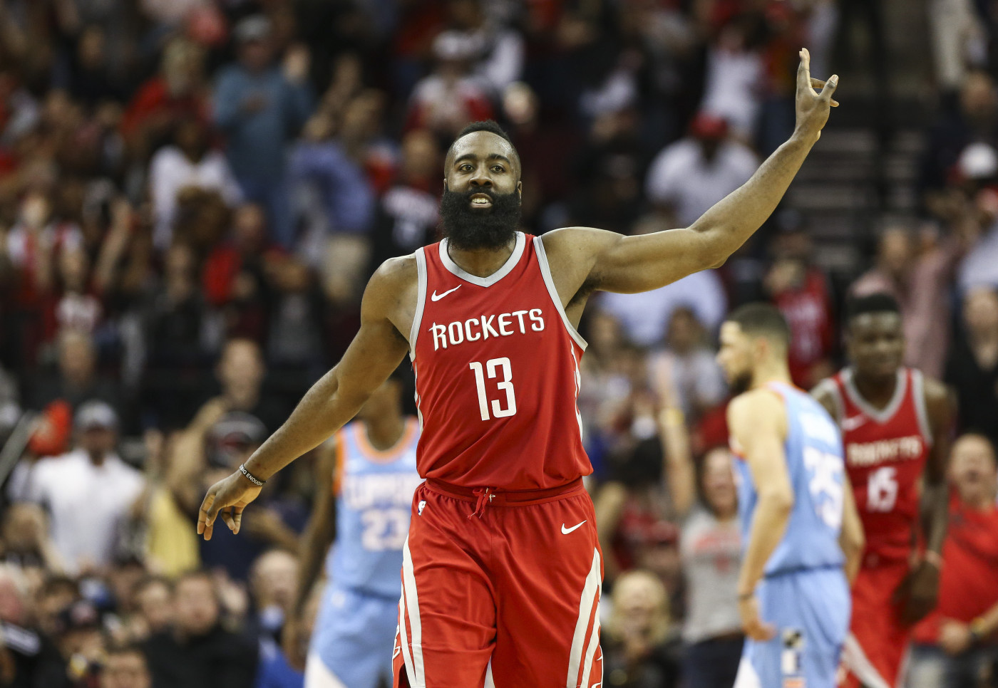James Harden Clippers Rockets March 2018