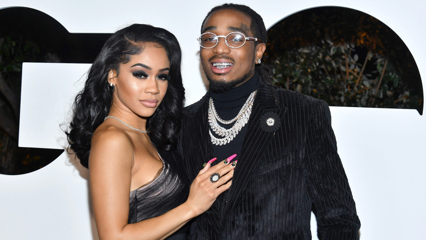Saweetie and Quavo attend the 2019 GQ Men of the Year.
