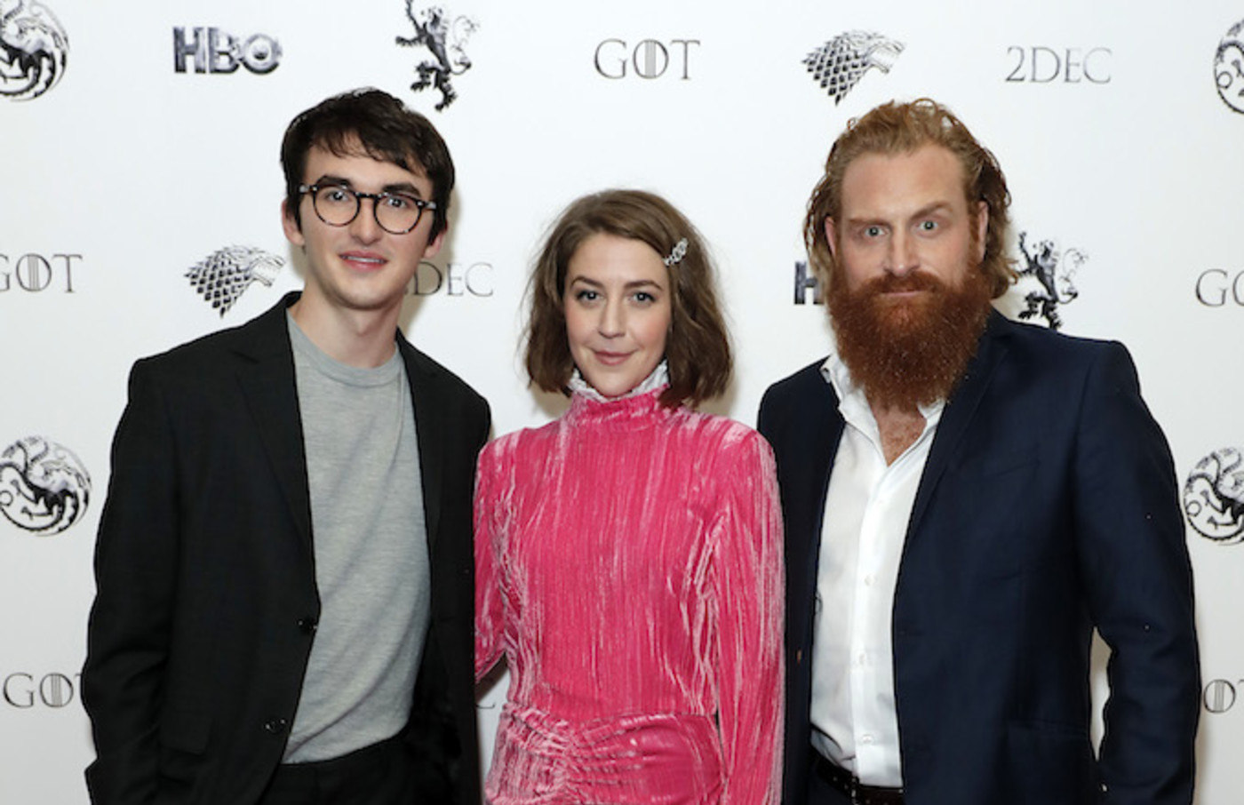 "Isaac Hempstead Wright, Gemma Whelan and Kristofer Hivju attend ""Game Of Thrones: A Celebration."""