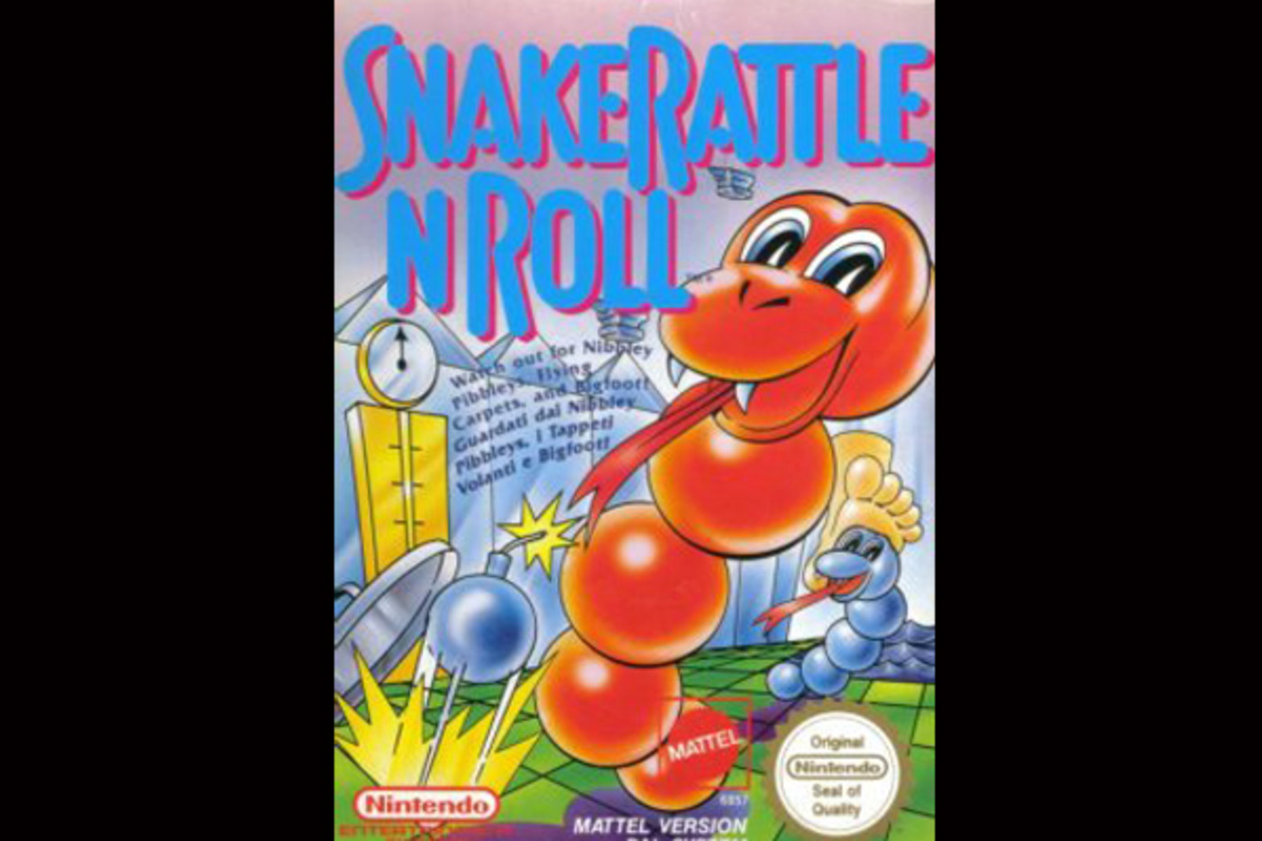 best-old-school-nintendo-games-snake-rattle-roll