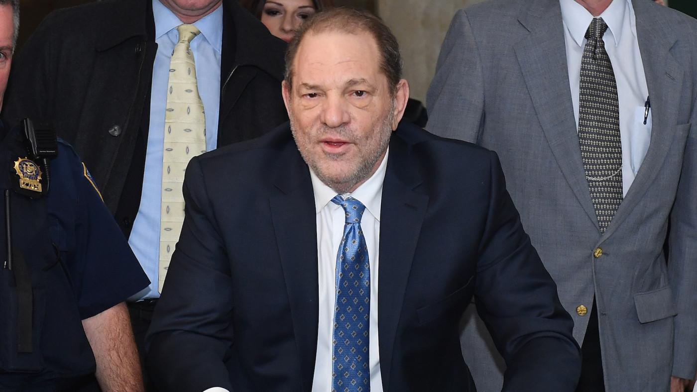 Harvey Weinstein arrives at the Manhattan Criminal Court