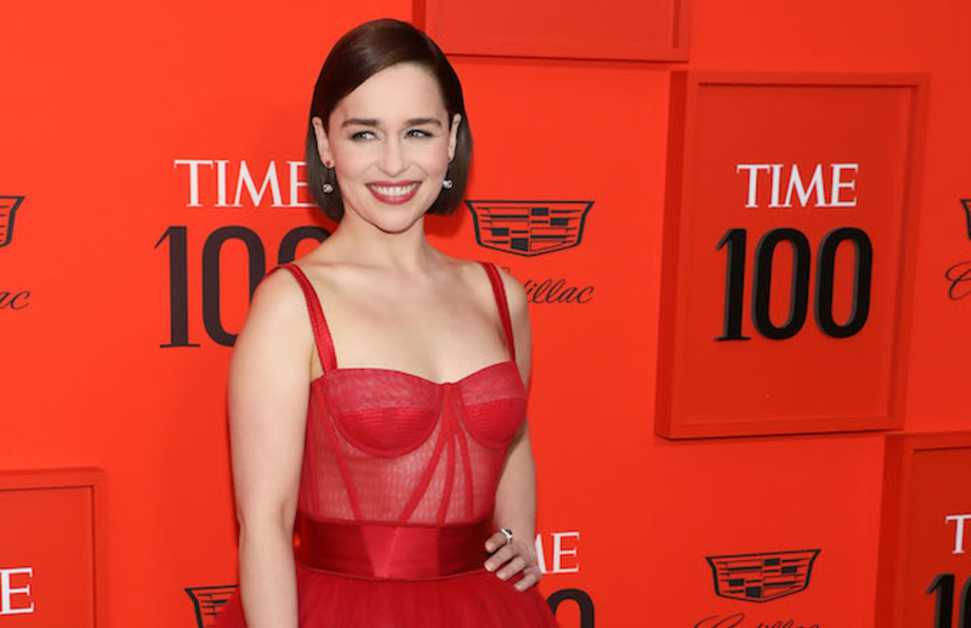 Emilia Clarke attends the 2019 Time 100 Gala.