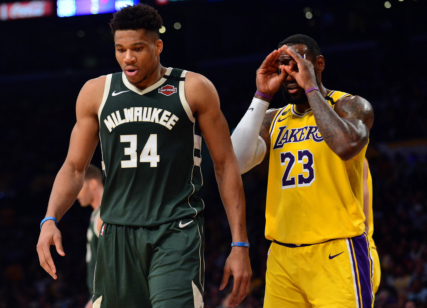 Giannis Antetokounmpo LeBron James Bucks Lakers LA 2020