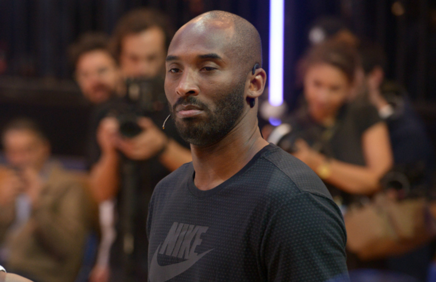 Kobe Bryant supervised a training session for INSEP residents