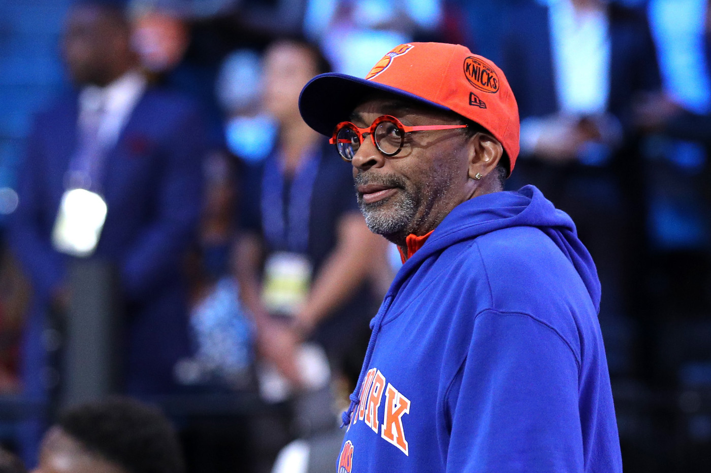 Spike Lee looks on before the start of the 2019 NBA Draft at the Barclays Center.