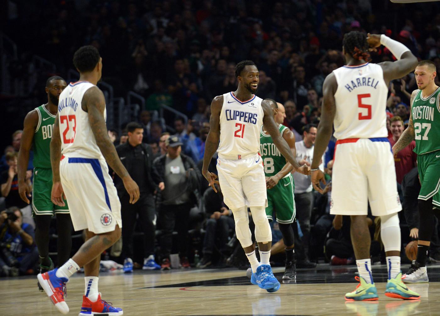 Patrick Beverley Clippers Celtics Nov 2019