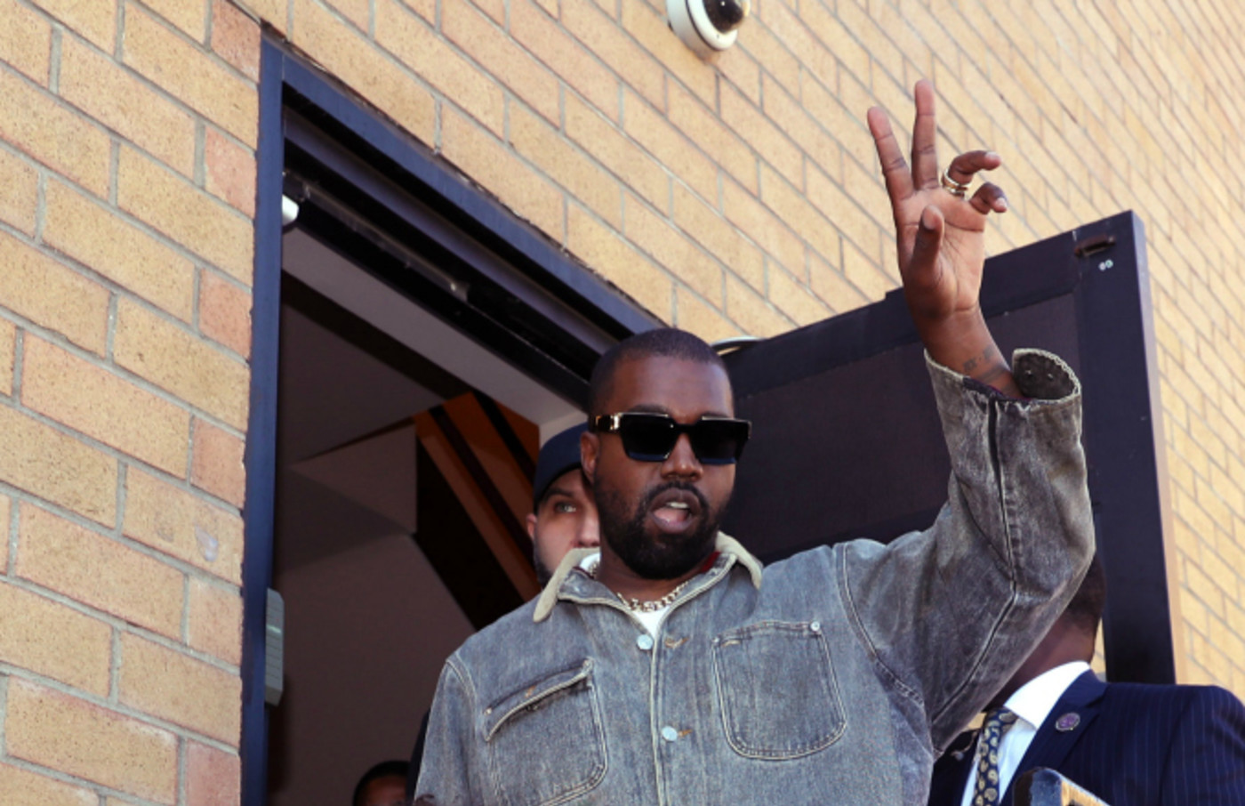 Kanye West attends Sunday Service at The Greater Allen A.M.E. Cathedral