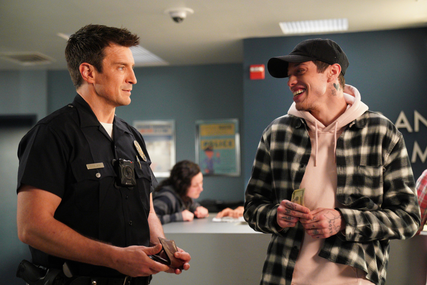 """Nathan Fillion and Pete Davidson star in new-episode of """"The Rookie."""""""