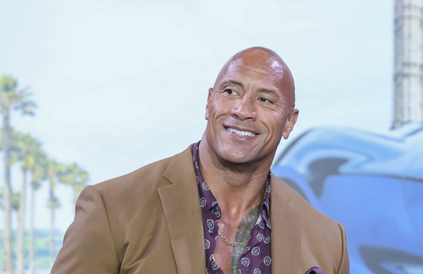 Actor Dwayne Johnson attends the 'Fast & Furious: Hobbs & Shaw' press conference