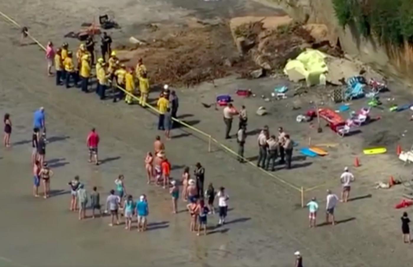 Cliff collapse in Encinitas, California