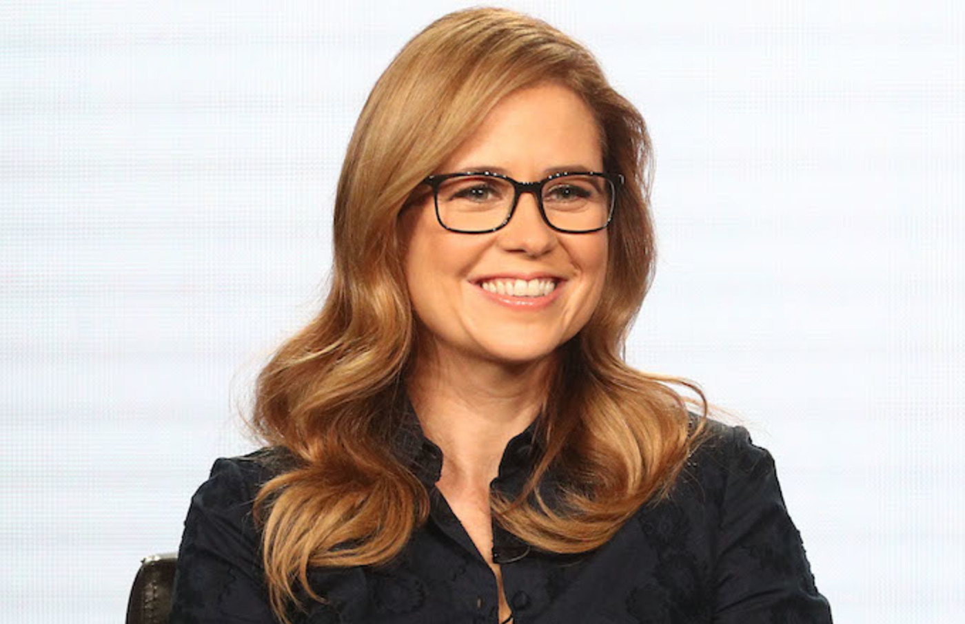 This is Jenna Fischer on the 2018 Winter Television Critics Association Press Tour.