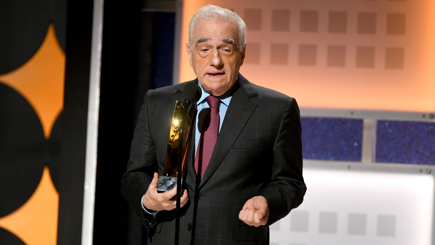 Martin Scorsese accepts an AARP Movie For Grownups Awards for 'The Irishman.'