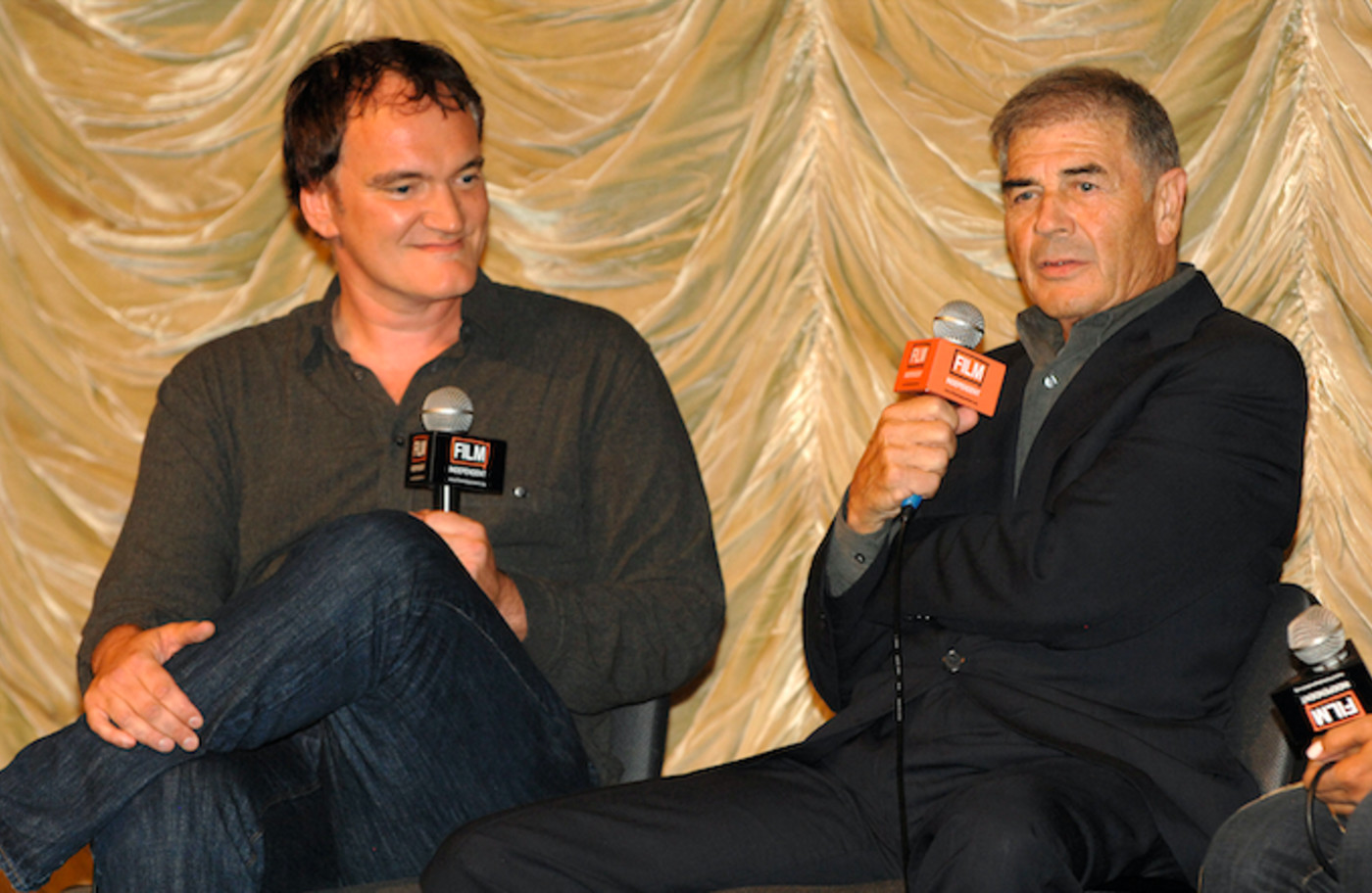 Quentin Tarantino and Robert Forster