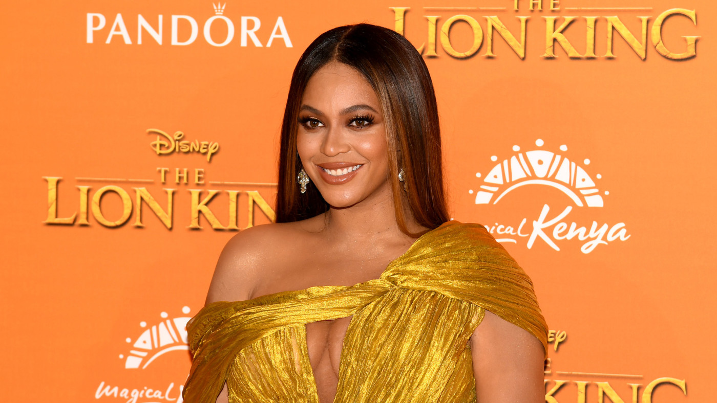 "Beyonce attends the European Premiere of Disney's ""The Lion King."""
