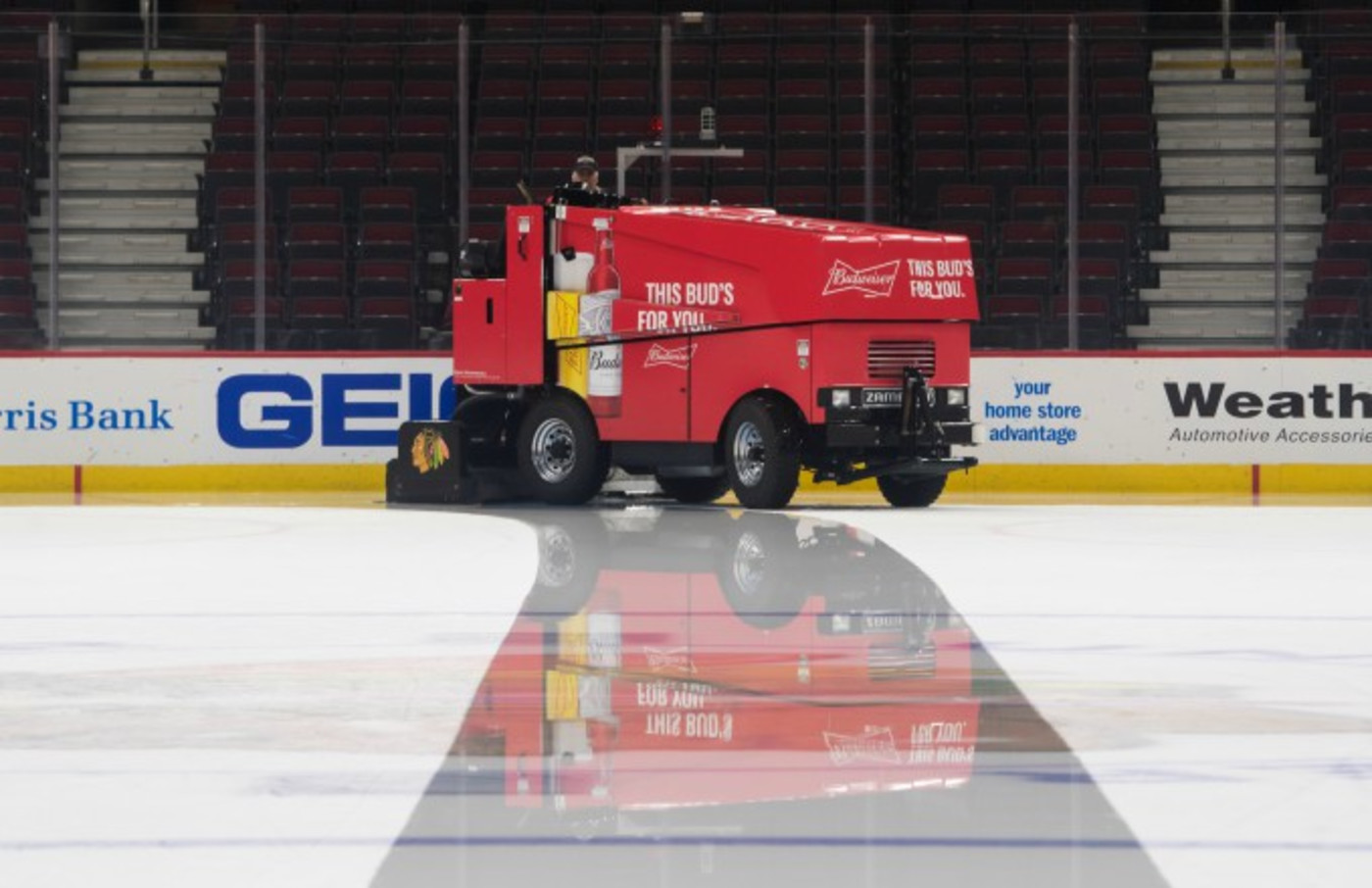 Zamboni on ice.