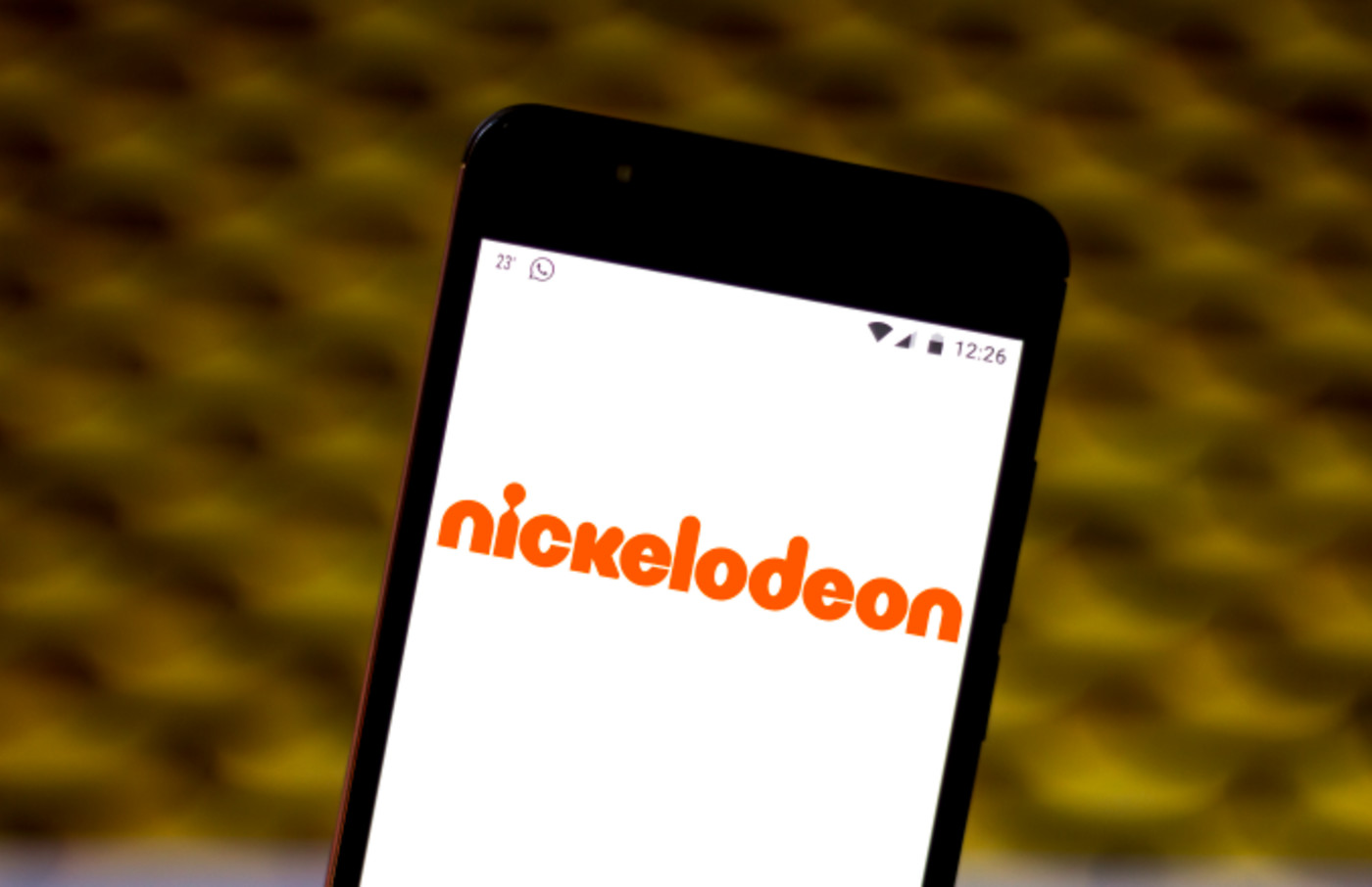 In this photo illustration the Nickelodeon logo