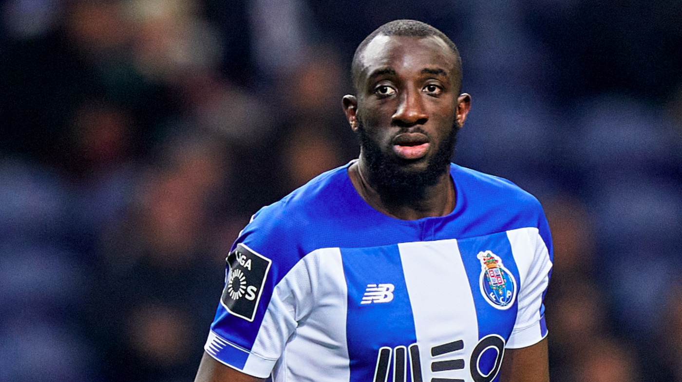Moussa Marega of FC Porto looks on