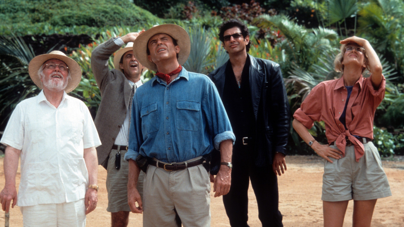 A scene from the film 'Jurassic Park.'