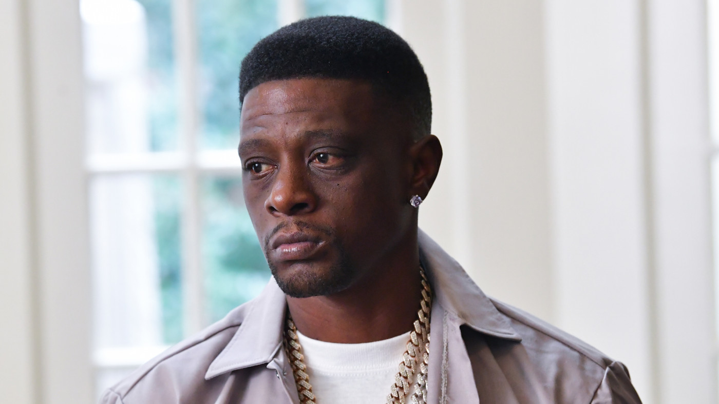 Lil Boosie on the set of the music Video