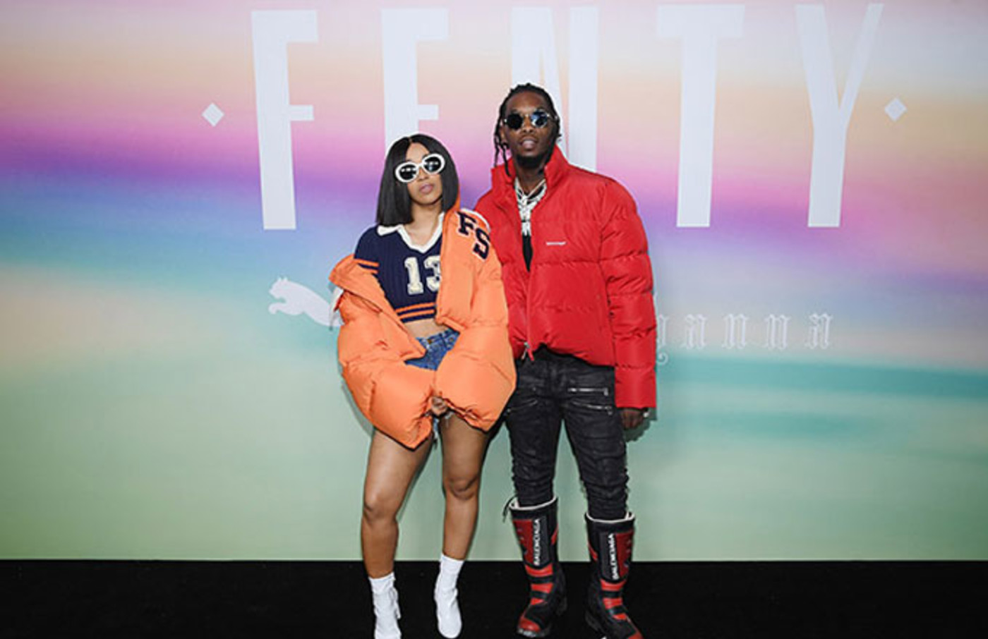 Cardi B and Offset.