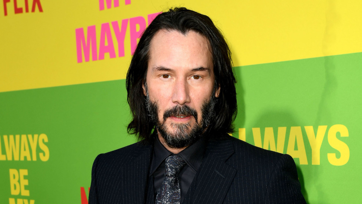 "Keanu Reeves arrives at the premiere of Netflix's ""Always Be My Maybe."""
