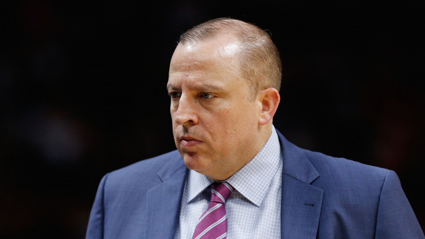 Tom Thibodeau of the Minnesota Timberwolves