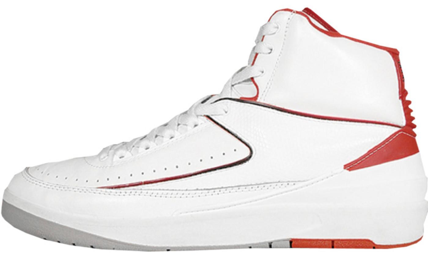 Air Jordan 2 Low Белый Красный