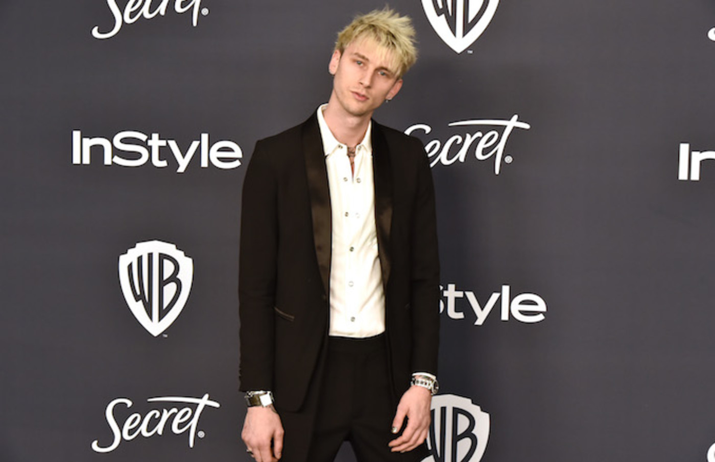 Machine Gun Kelly attends Warner Brothers and InStyle Annual Post Golden Globes After Party.