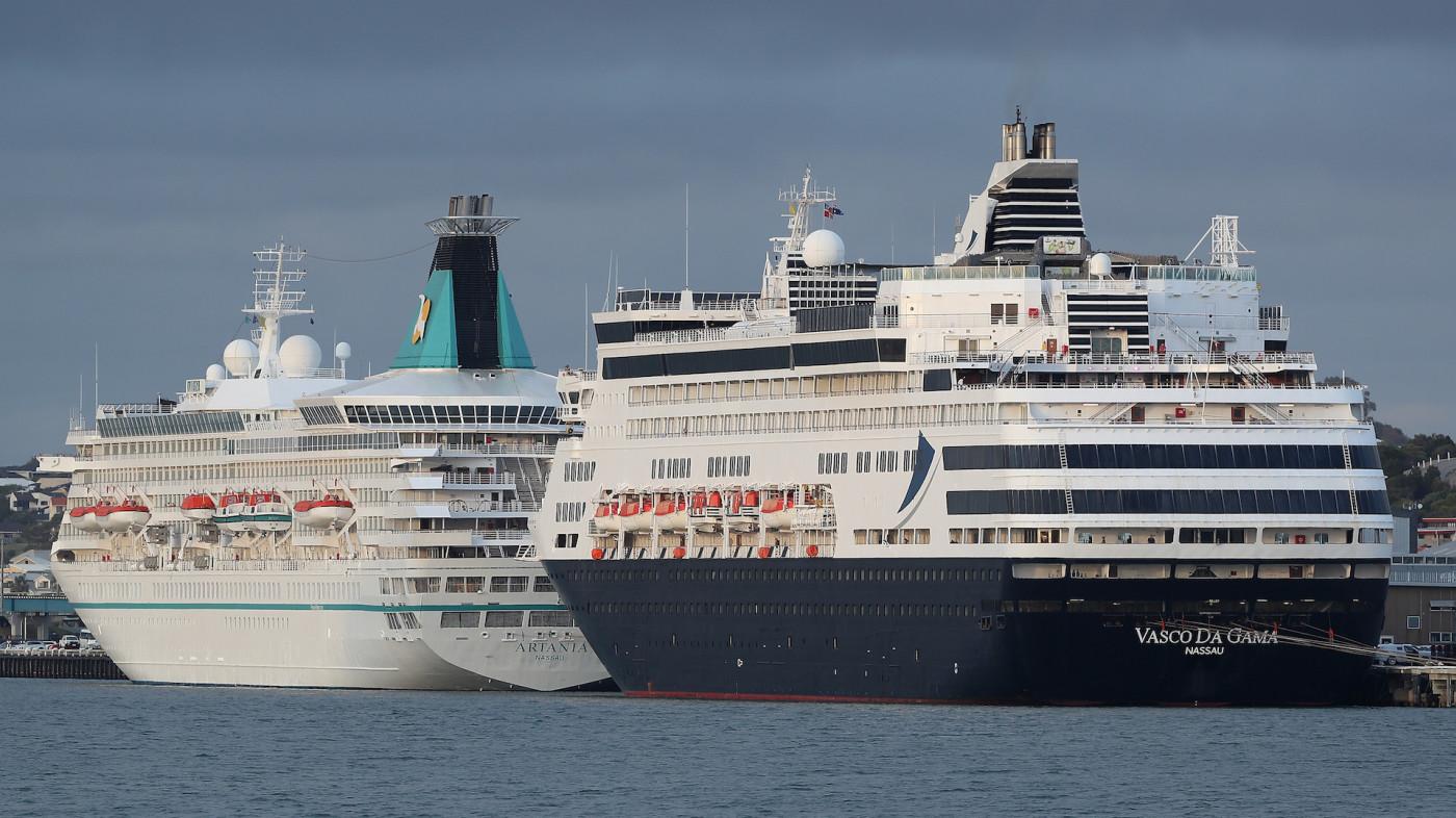 The Artania and Vasco Da Gama cruise ships