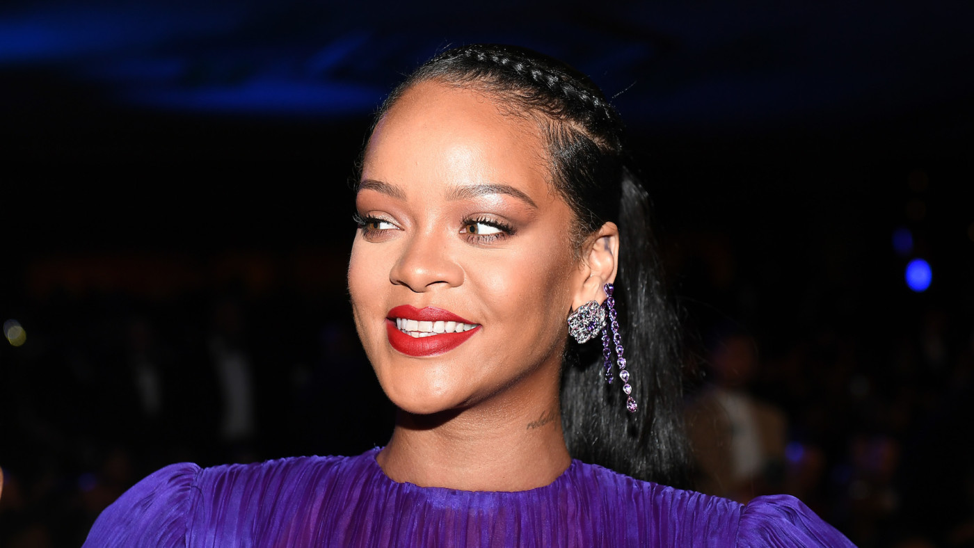 Rihanna attends the 51st NAACP Image Awards.