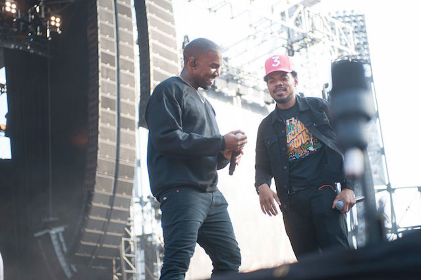 This is a picture of Kanye and Chance.