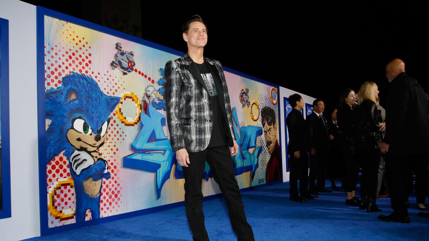Jim Carrey Sonic premiere