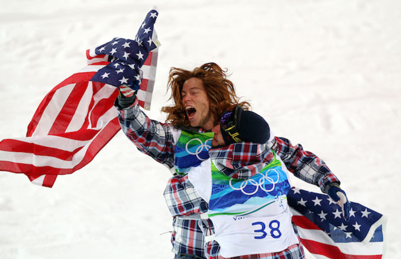 Shaun White after winning gold at 2010 Olympics.
