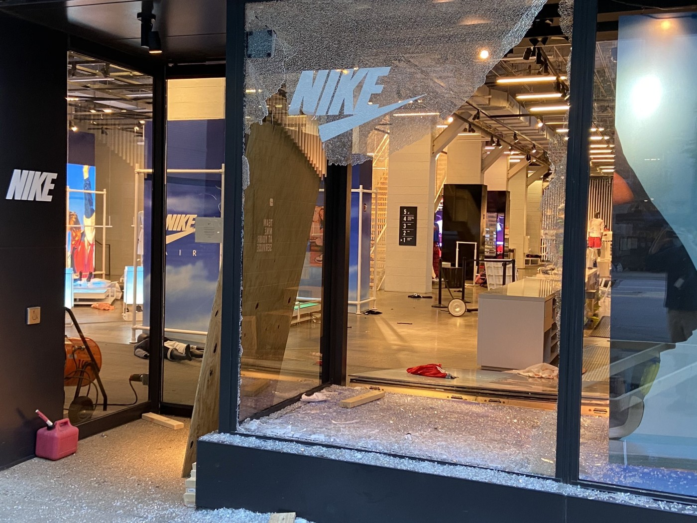 Nike Store Vandalized