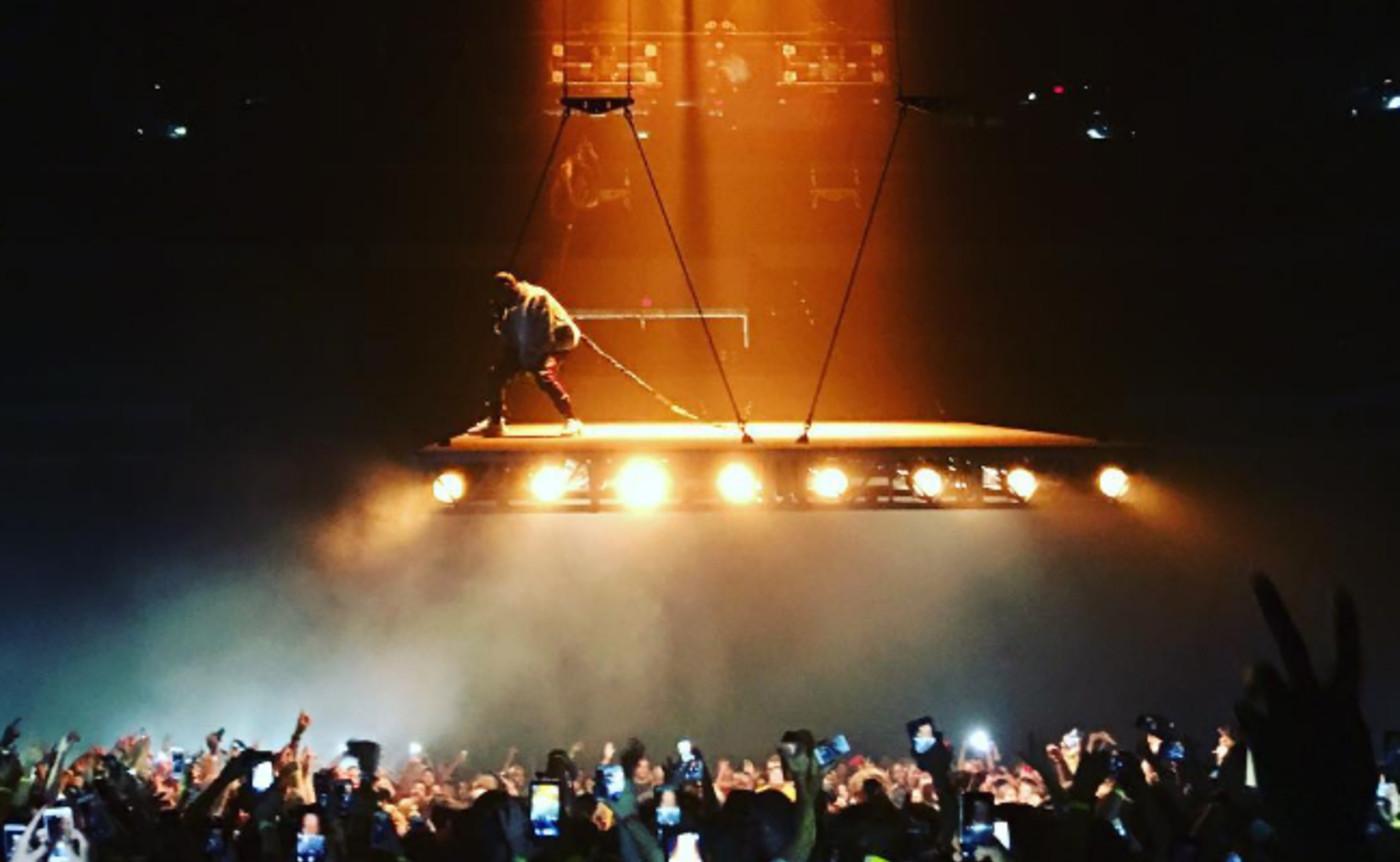 Kanye West's striking 'Saint Pablo' stage.