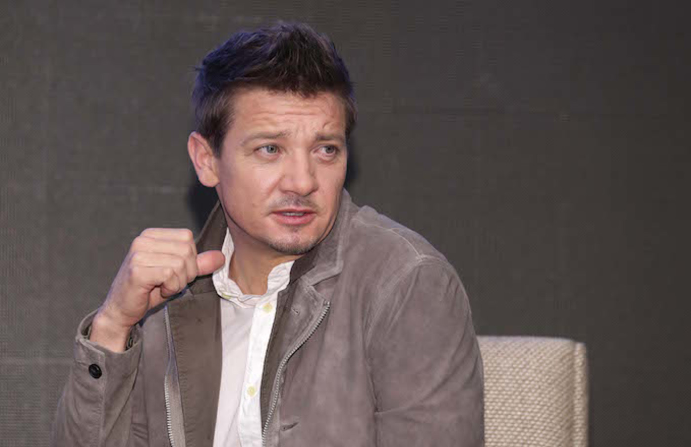 Jeremy Renner attends the 'Avengers: Endgame' Asia Press Conference.