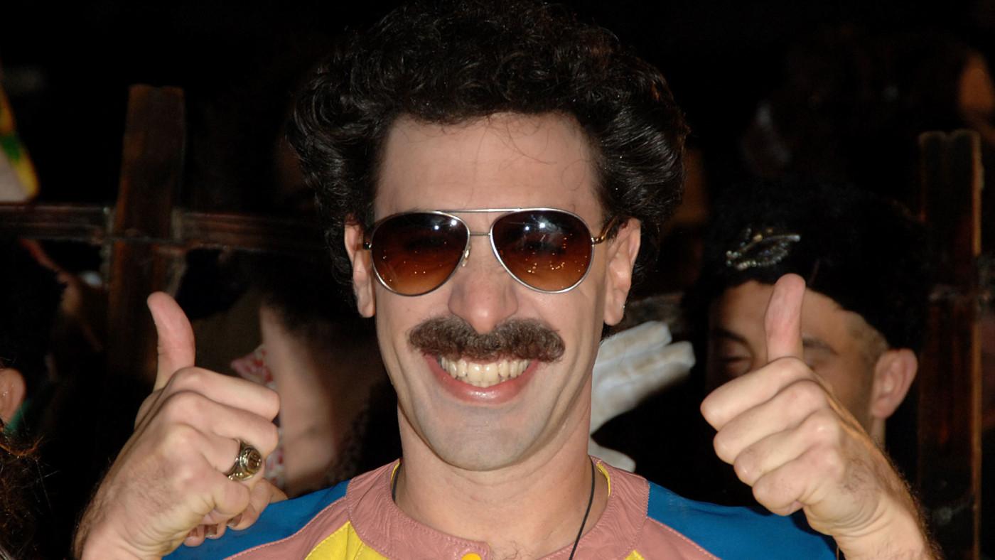 Sacha Baron Cohen as 'Borat' on the red carpet.
