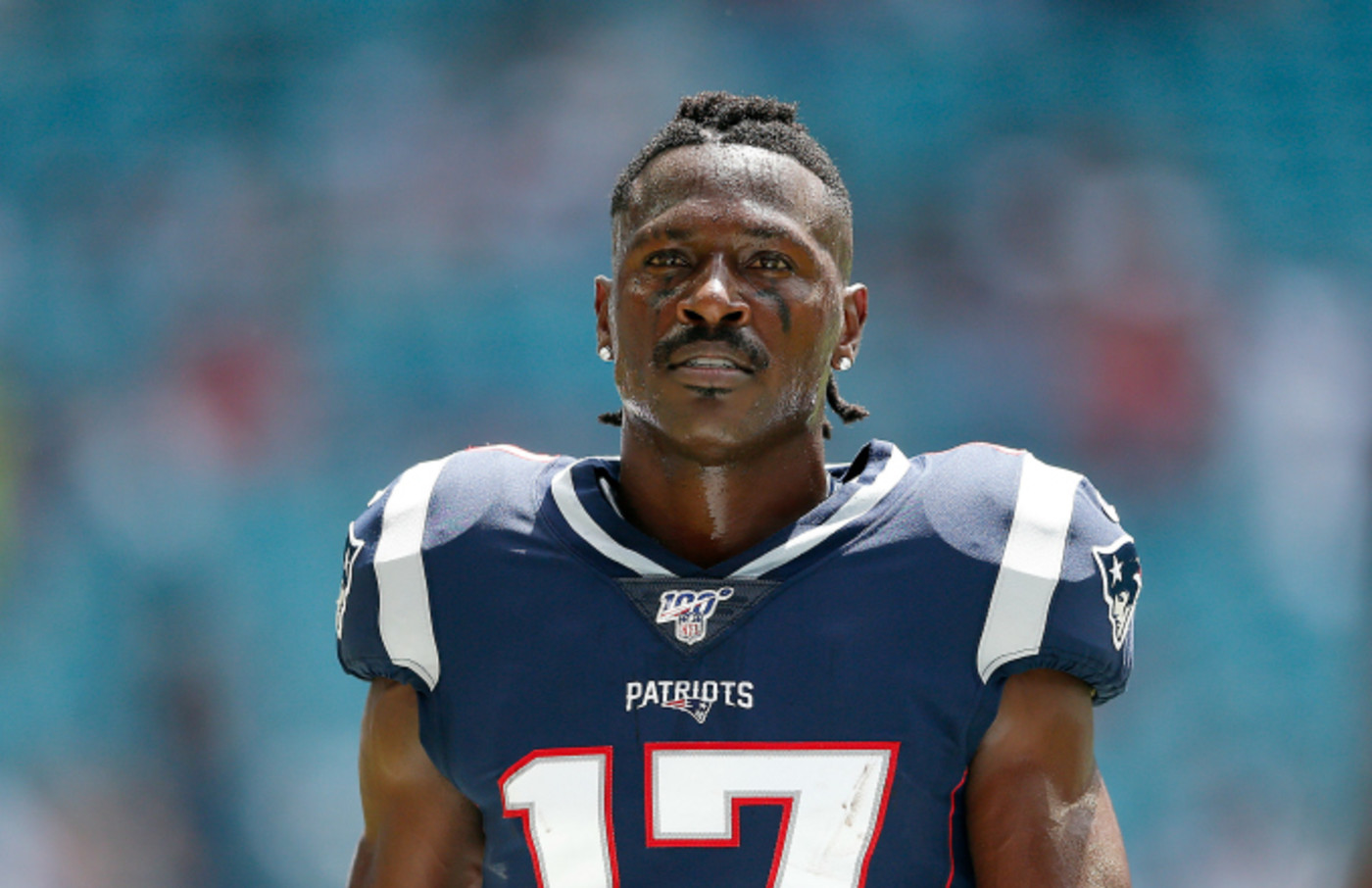 Antonio Brown #17 of the New England Patriots